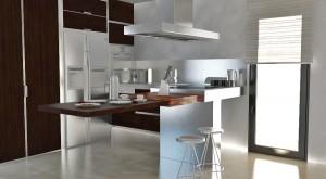 Cocina en madera de wenge - Portafolio de proyectos de interiorismo en Barcelona Interior Studio