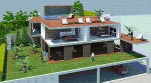 Proyecto casa 3D de Barcelona Interior Studio - Rehabilitacion de viviendas y reforma de pisos.